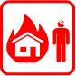 Feuer, größer als Standard, Menschenleben in Gefahr