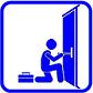 Technische Hilfeleistung, kleiner als Standard, Tür verschlossen